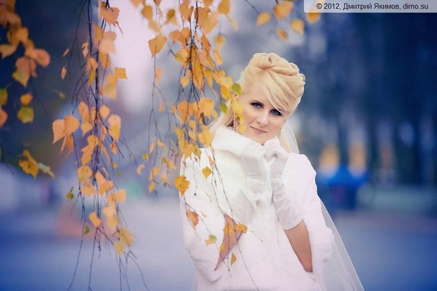 осеннее свадебное фото