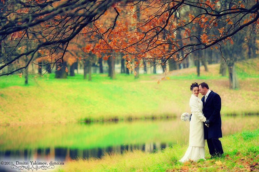 свадебные фотосессии осенью в спб