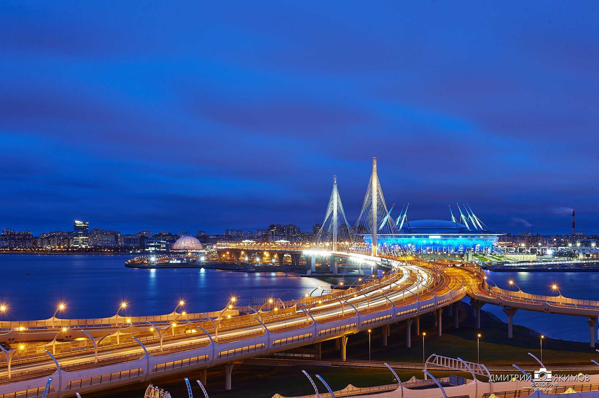 Великолепный новый ночной Петербург, стадион Газпром-арена
