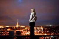 фотосессии на крыше для девушки в Петербурге